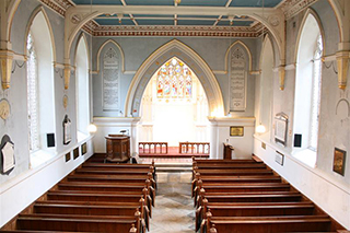 The chancel of the church today